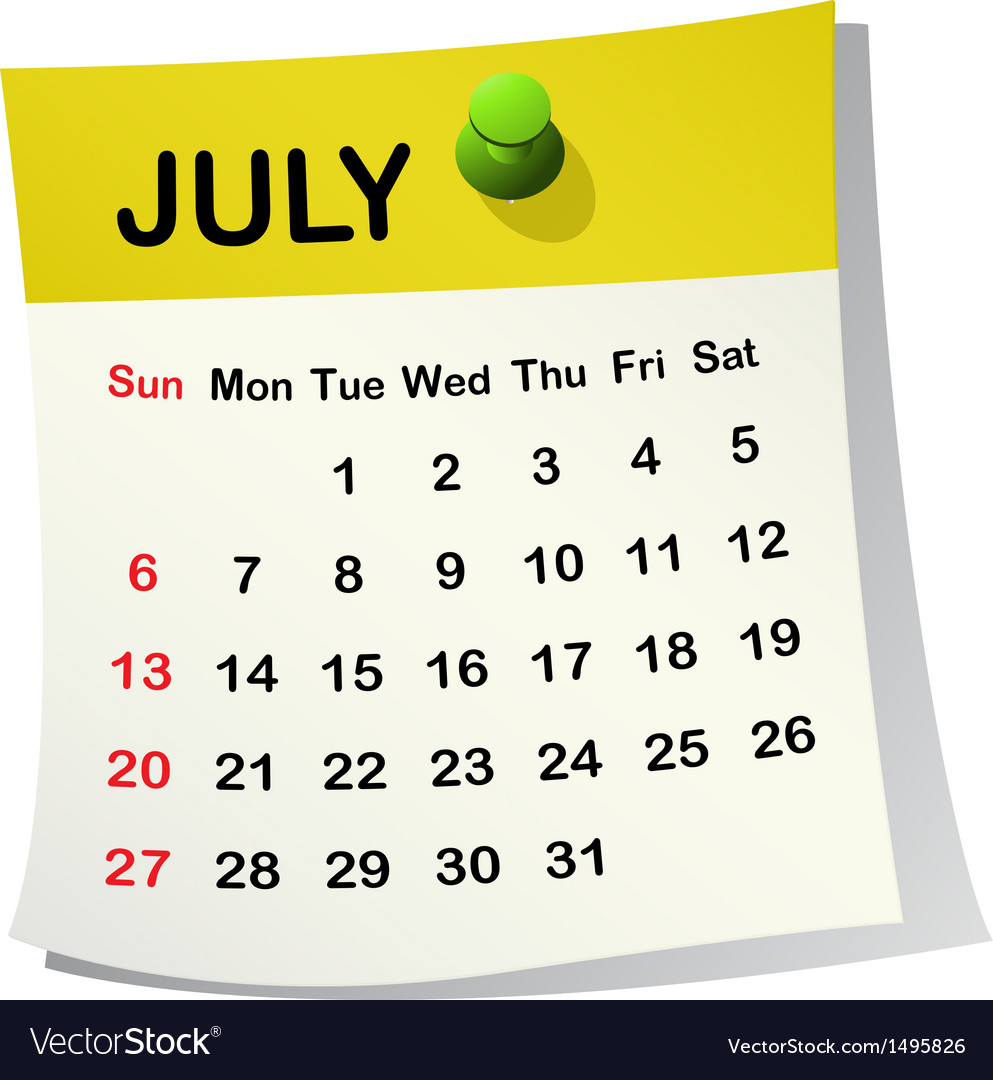 2014 calendar for july vector | Price: 1 Credit (USD $1)