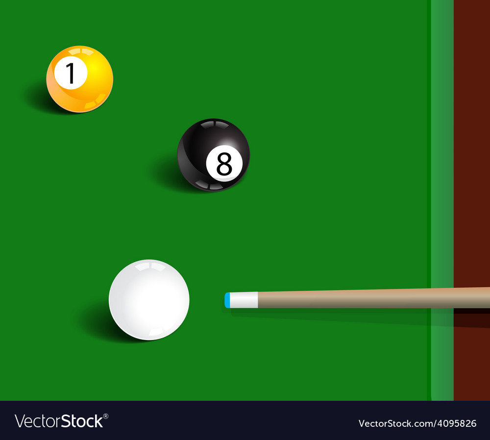 Billiards sport game background vector | Price: 1 Credit (USD $1)