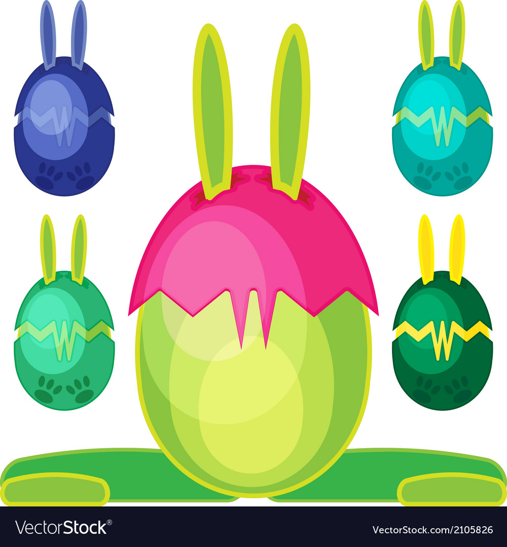Bunn egg mons03 vector | Price: 1 Credit (USD $1)