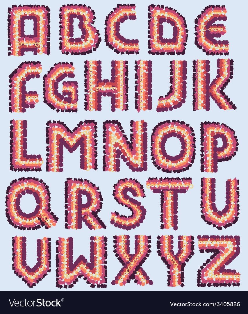 Decorative font vector | Price: 1 Credit (USD $1)