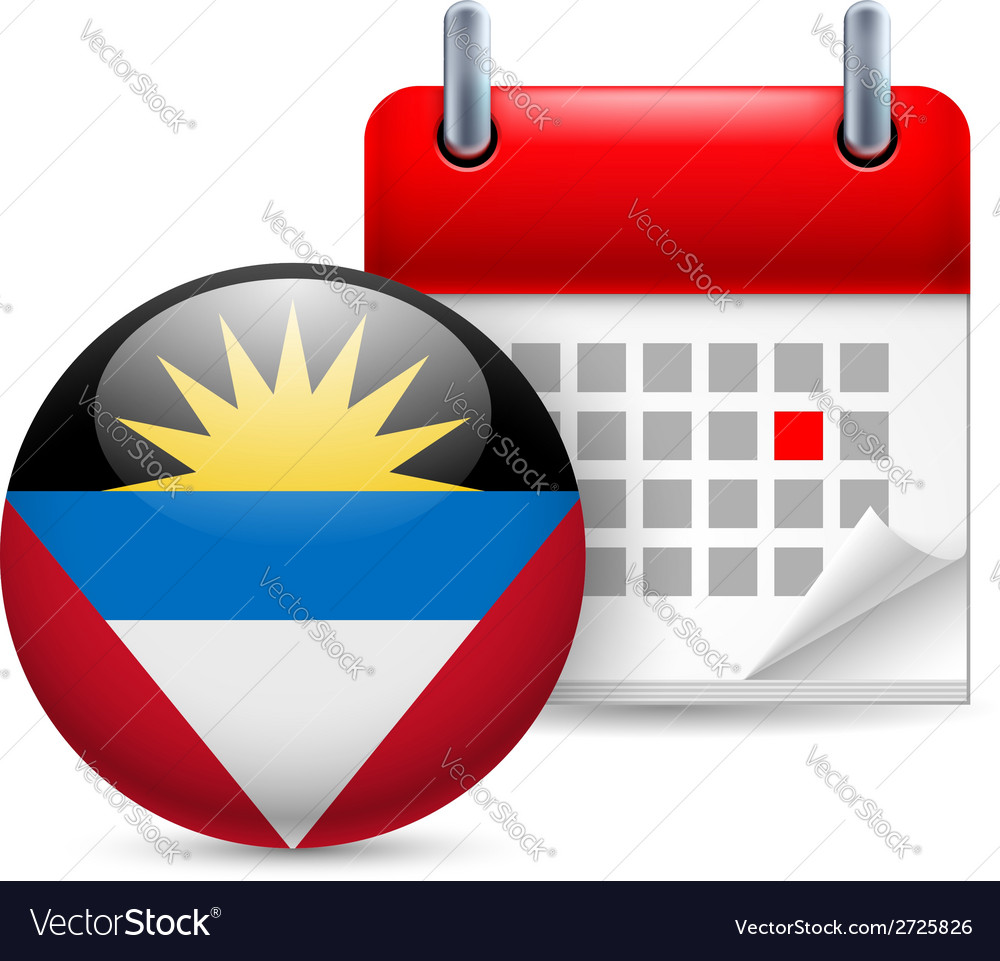Icon of national day in antigua and barbuda vector | Price: 1 Credit (USD $1)