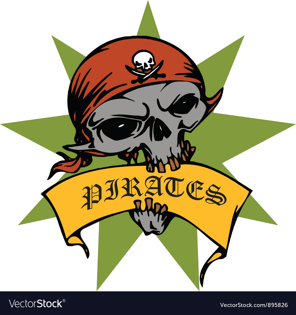 Pirate skull vector | Price: 1 Credit (USD $1)