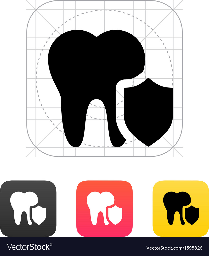 Protected tooth icon vector | Price: 1 Credit (USD $1)