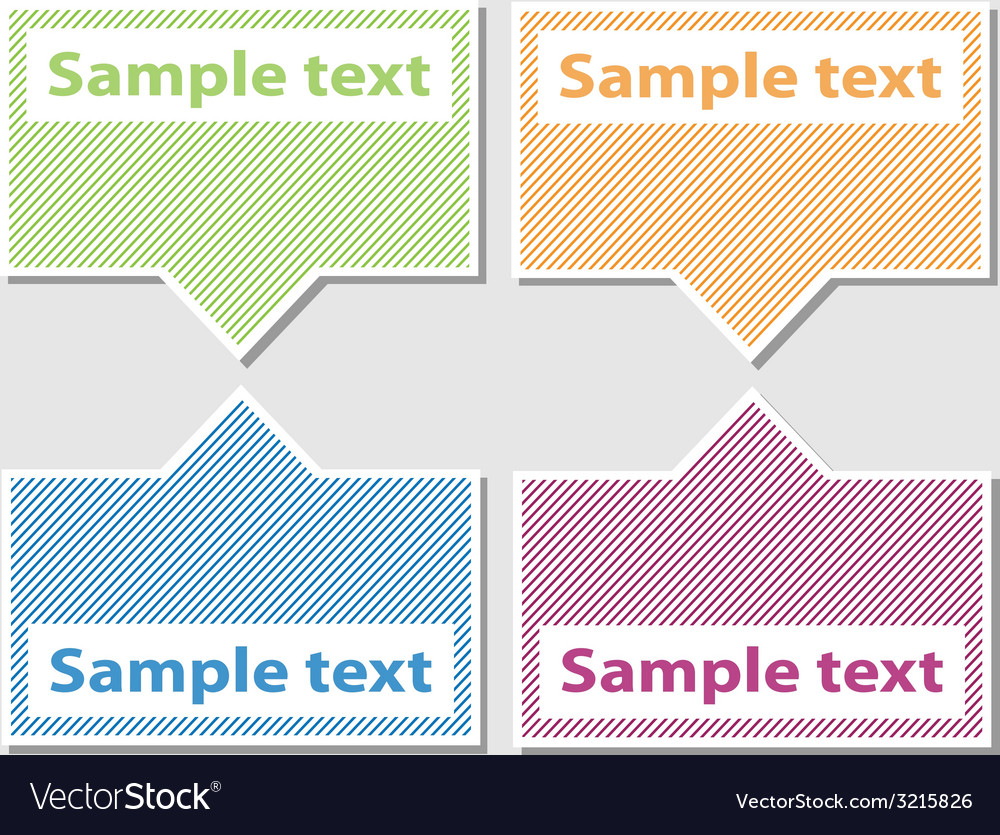 Set of striped labels vector | Price: 1 Credit (USD $1)