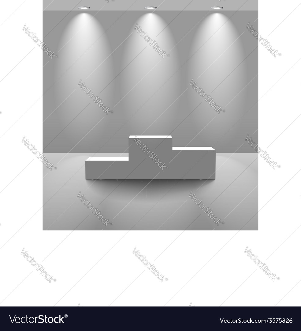 White lightened room with pedestal vector | Price: 1 Credit (USD $1)