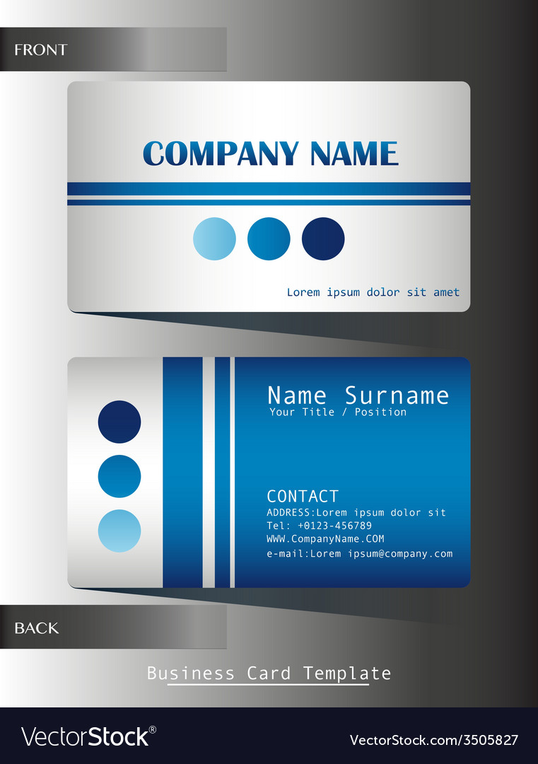 A blue colored calling card vector | Price: 1 Credit (USD $1)