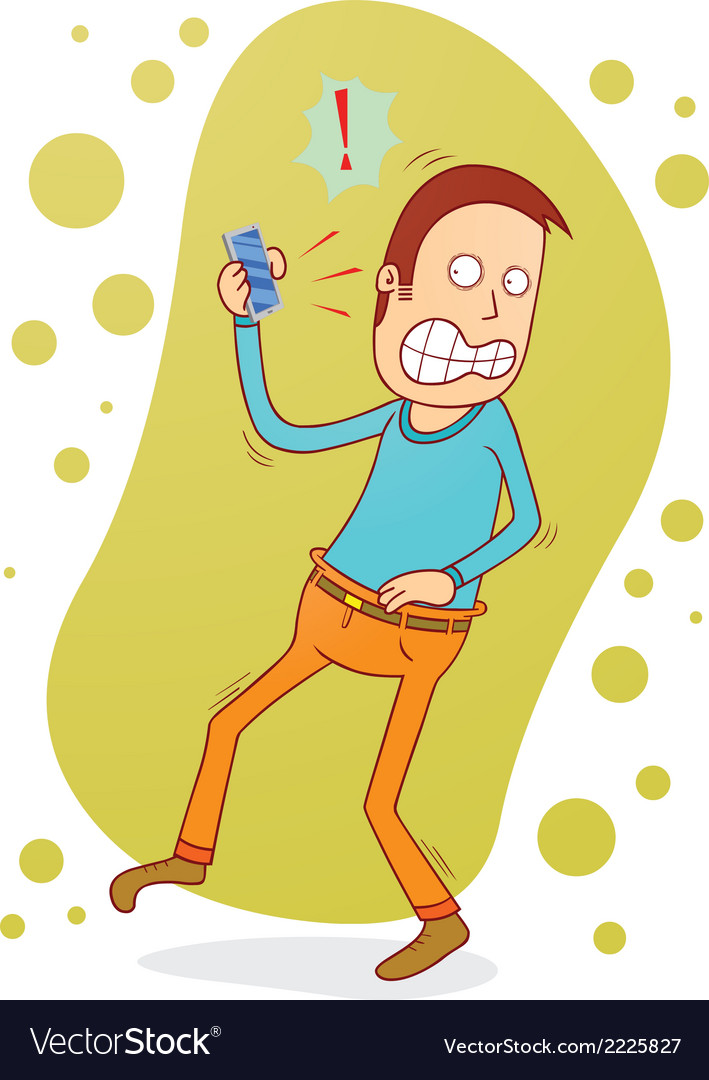 Angry on the phone vector   Price: 1 Credit (USD $1)