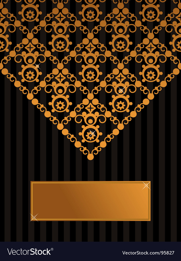 Decorative black and gold background vector | Price: 1 Credit (USD $1)