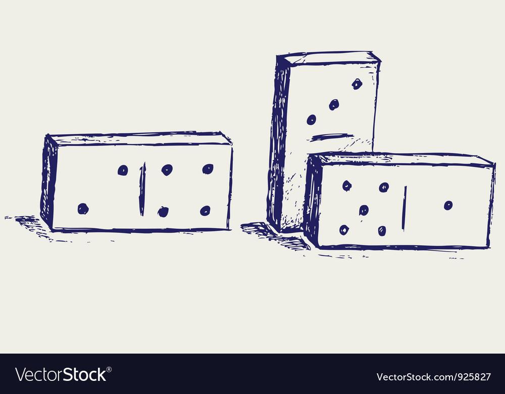 Domino icon vector | Price: 1 Credit (USD $1)