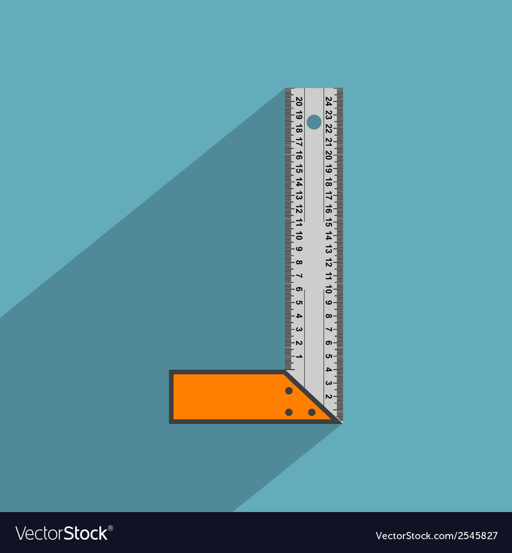 Flat angle ruler vector | Price: 1 Credit (USD $1)