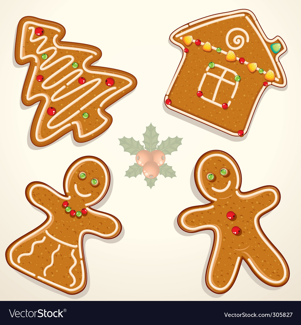 Gingerbread cookie vector | Price: 3 Credit (USD $3)