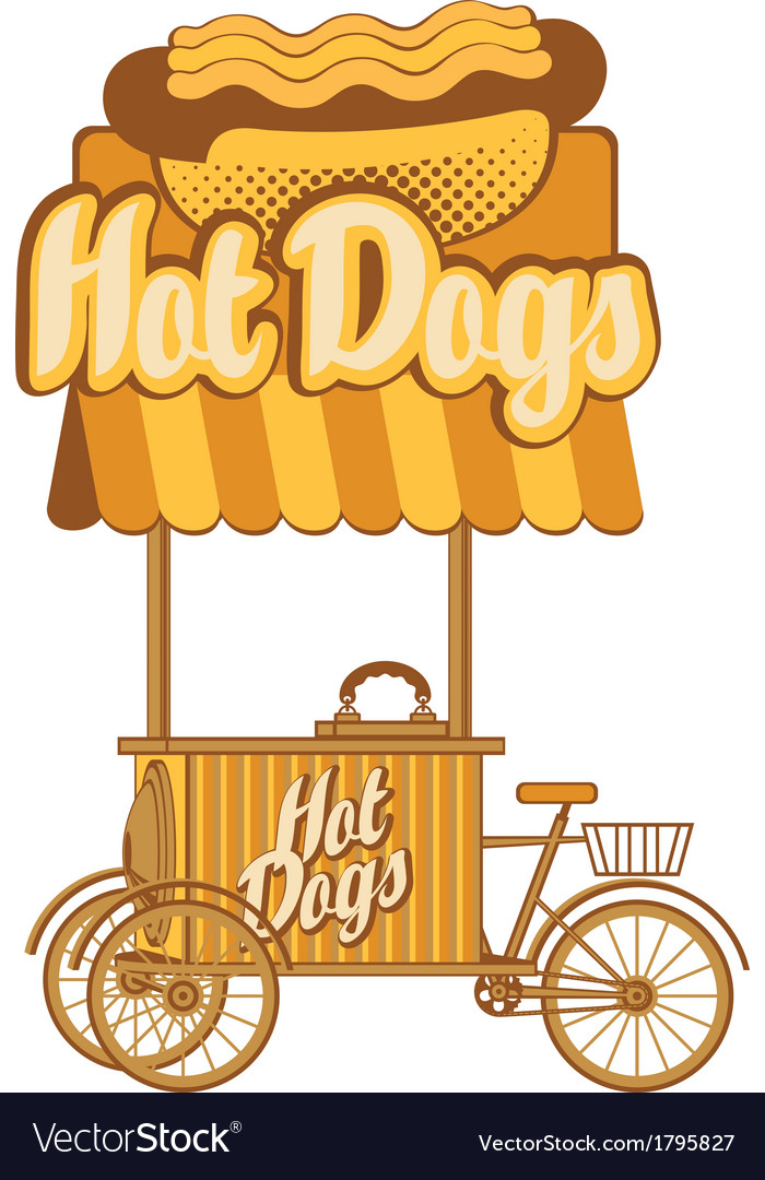 Hot dog on wheels vector | Price: 1 Credit (USD $1)