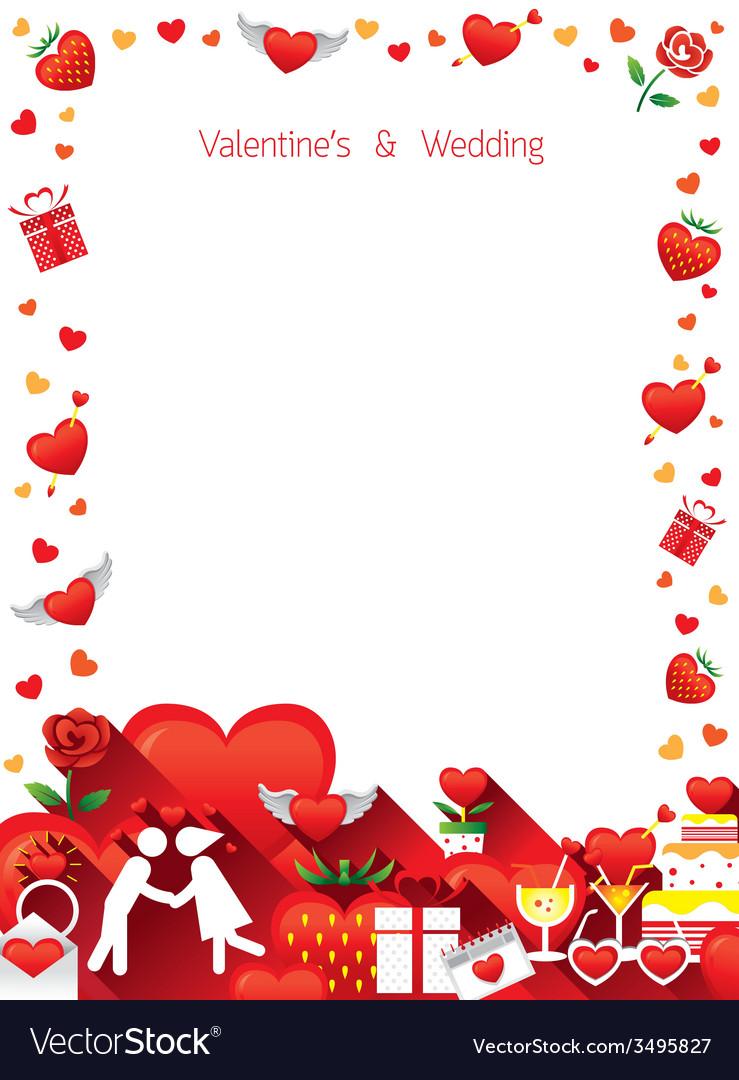 Love border frame vector | Price: 1 Credit (USD $1)