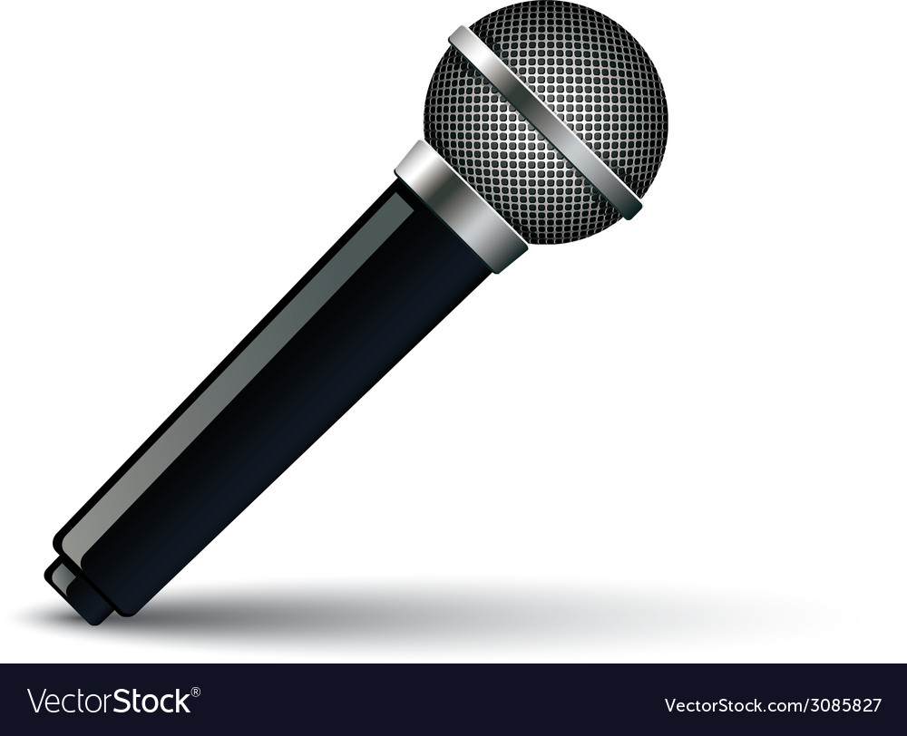Microphone isolated on white background vector | Price: 1 Credit (USD $1)
