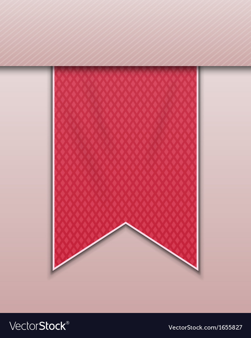 Red bookmark decoration ribbon vector | Price: 1 Credit (USD $1)