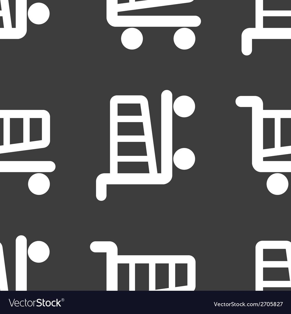 Shopping basket web icon flat design seamless vector | Price: 1 Credit (USD $1)
