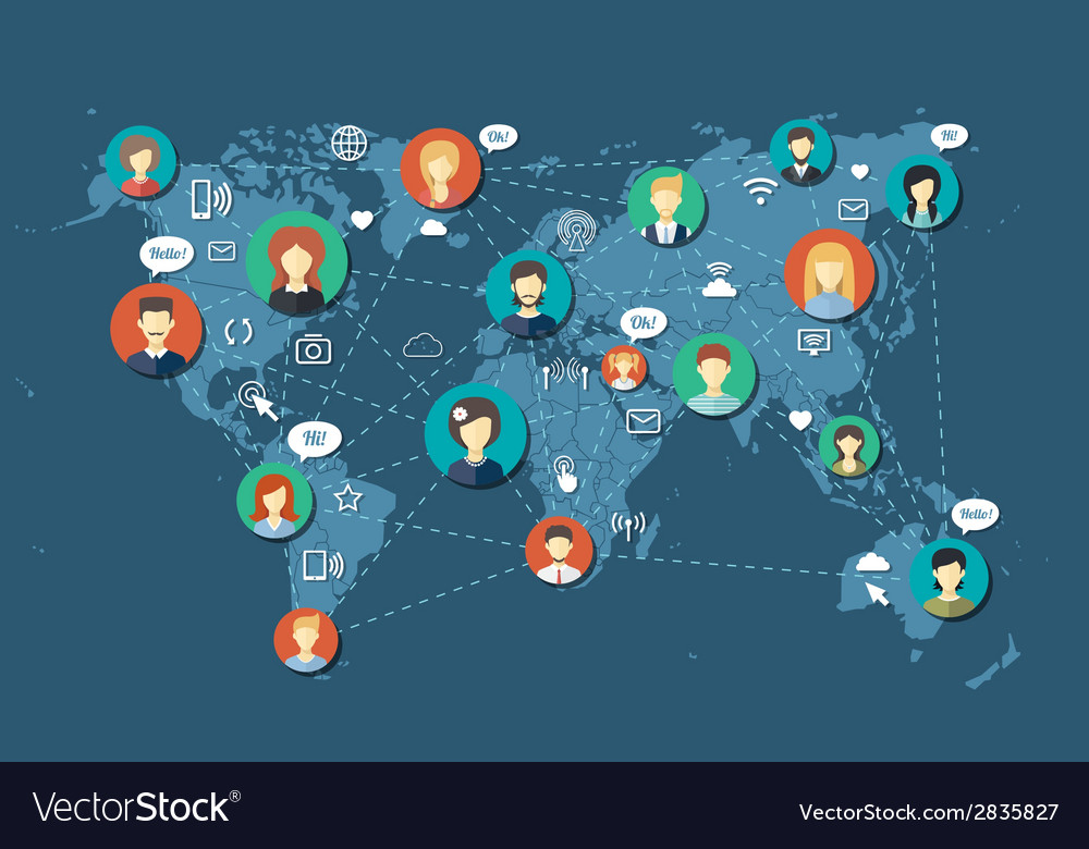 Social people network community vector | Price: 1 Credit (USD $1)