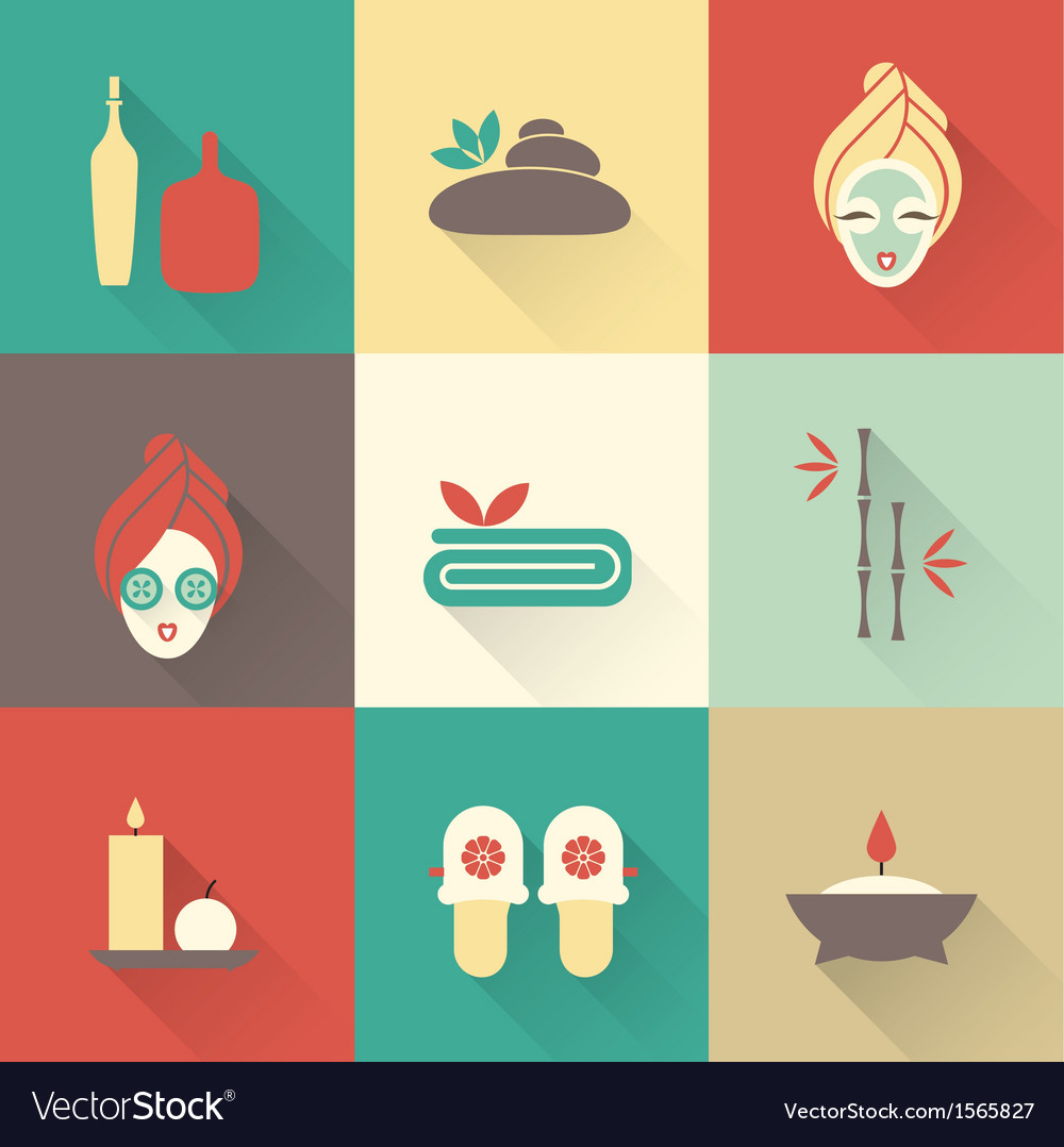 Spa icons vector | Price: 3 Credit (USD $3)