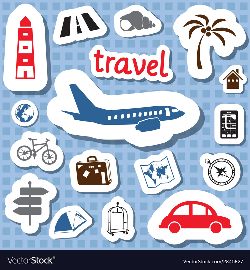 Travel stickers vector | Price: 1 Credit (USD $1)