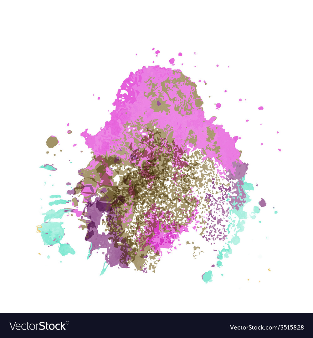 Abstract artistic element forming by blots vector | Price: 1 Credit (USD $1)
