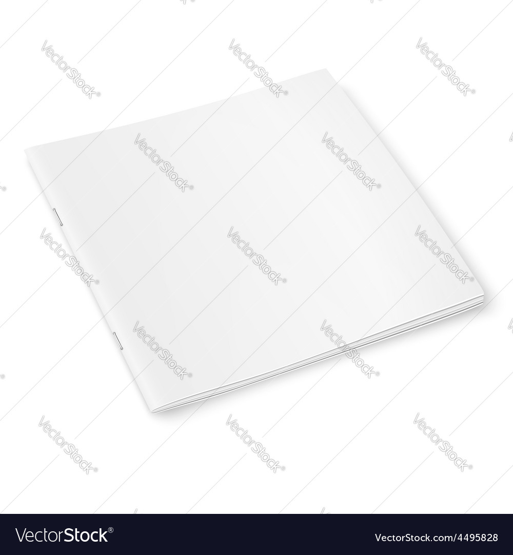 Blank square magazine template with soft shadows vector   Price: 1 Credit (USD $1)