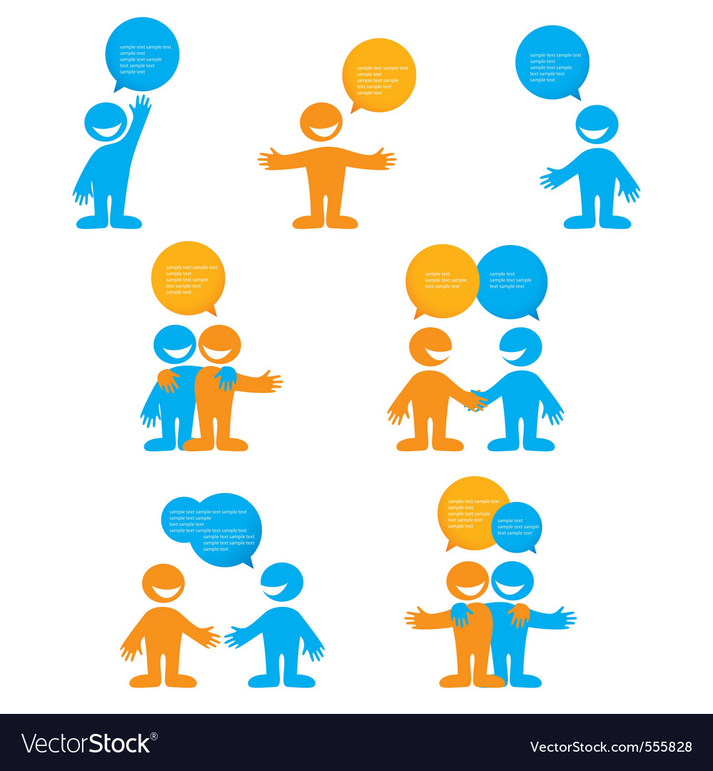 Dialogue people vector | Price: 1 Credit (USD $1)