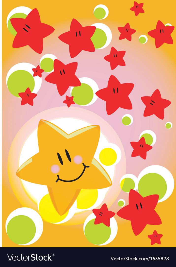 Greeting card star vector | Price: 1 Credit (USD $1)