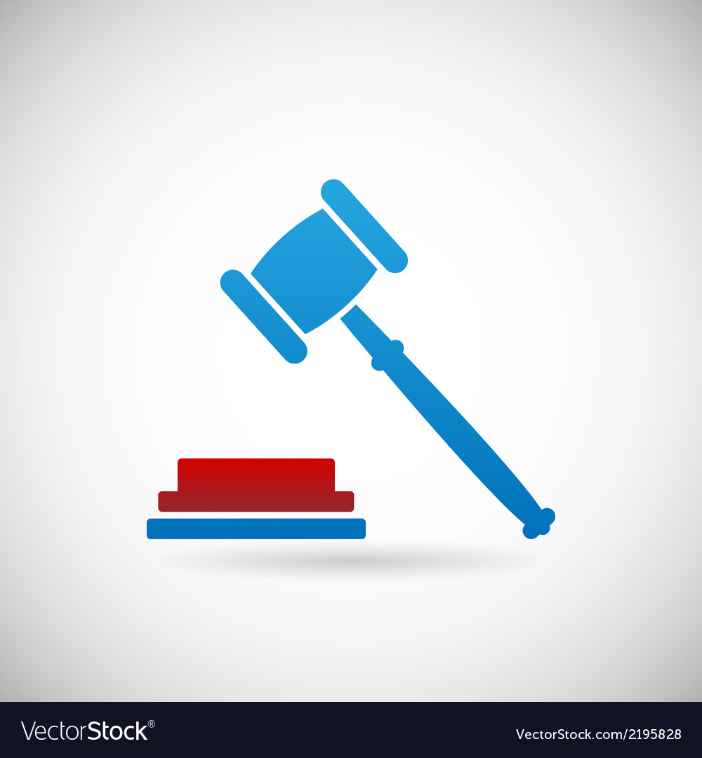 Judgment verdict symbol judge gavel icon template vector | Price: 1 Credit (USD $1)