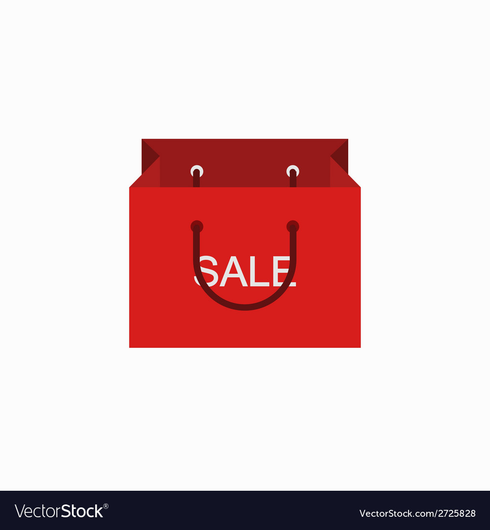 Modern shopping sale icon on white vector | Price: 1 Credit (USD $1)