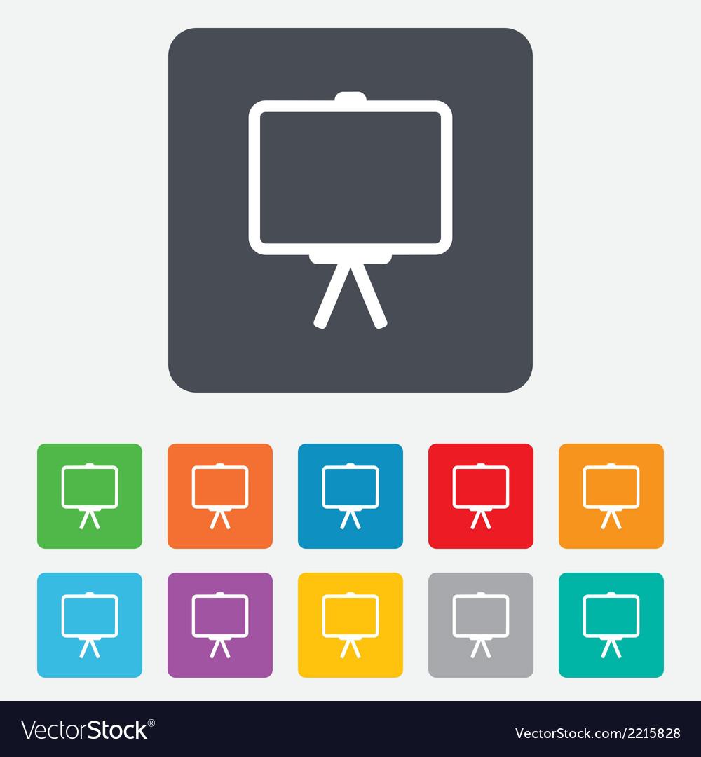Presentation billboard sign icon ppt symbol vector | Price: 1 Credit (USD $1)