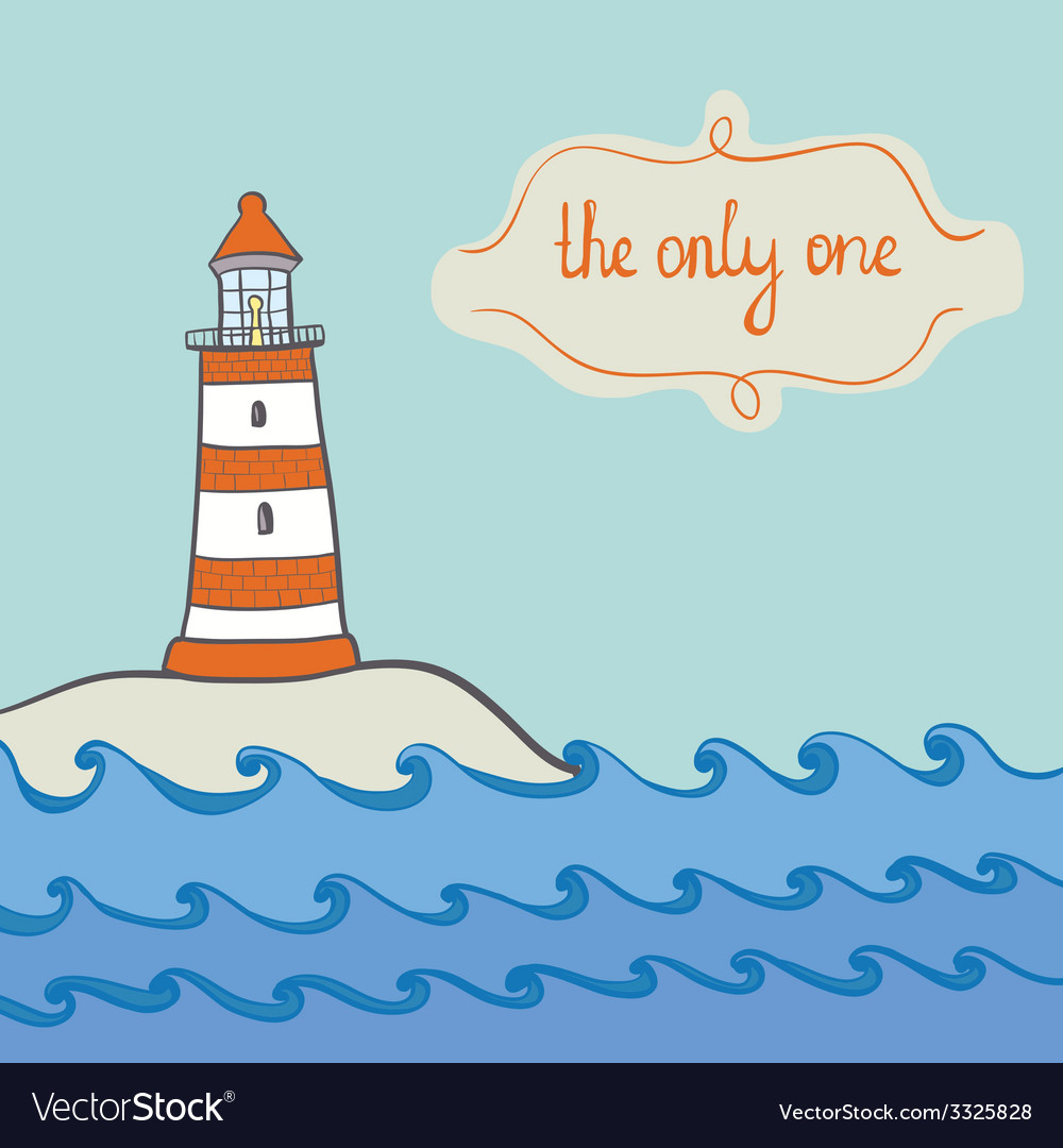 Shiplighthouse12 vector | Price: 1 Credit (USD $1)
