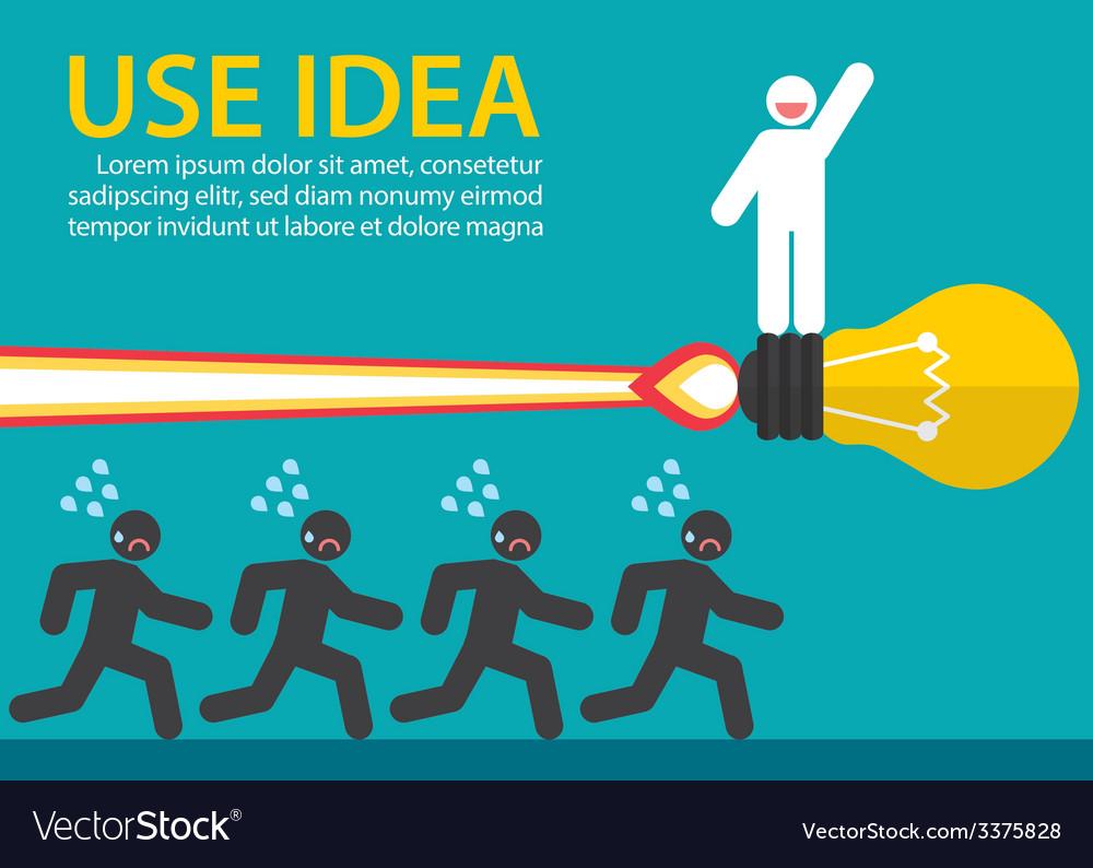 Use creative idea vector | Price: 1 Credit (USD $1)