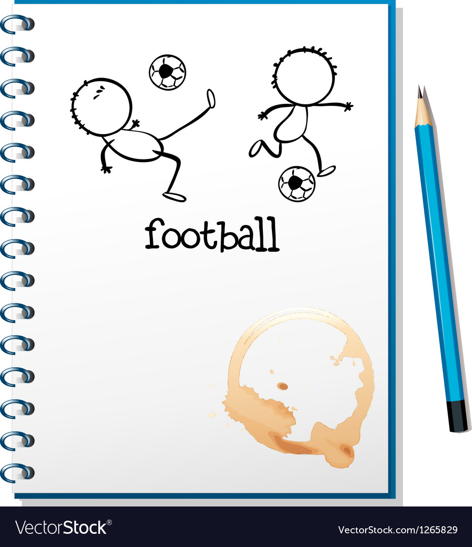 A notebook with a football design vector | Price: 1 Credit (USD $1)