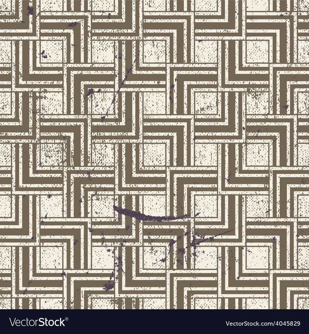 Aged textured geometric seamless pattern vintage vector | Price: 1 Credit (USD $1)
