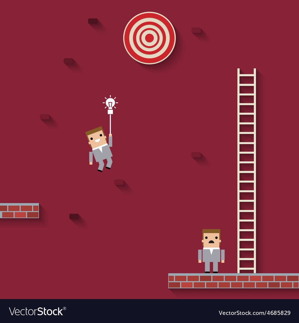Business like a game on red vector | Price: 1 Credit (USD $1)