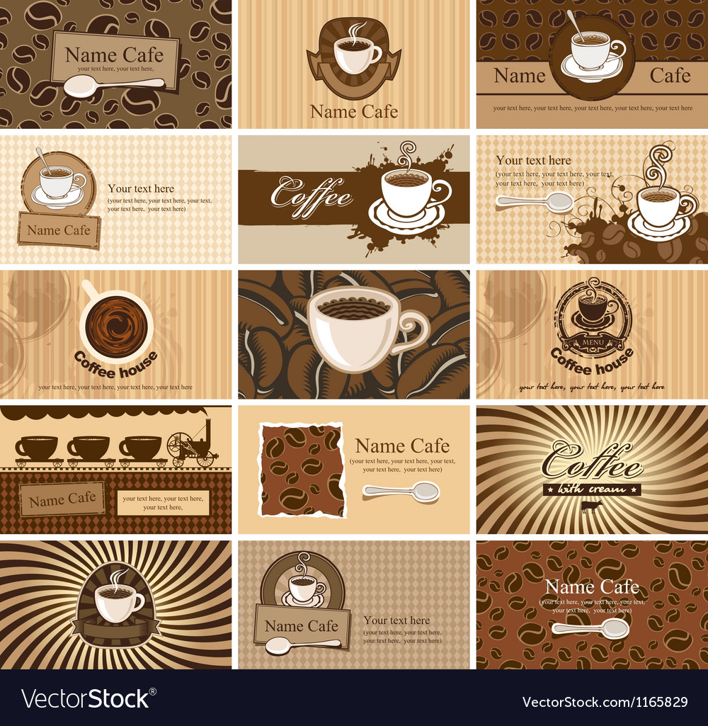Cards on coffee vector | Price: 1 Credit (USD $1)