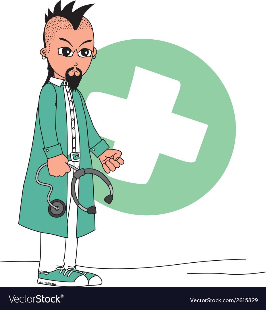 Cartoon doctor vector   Price: 1 Credit (USD $1)
