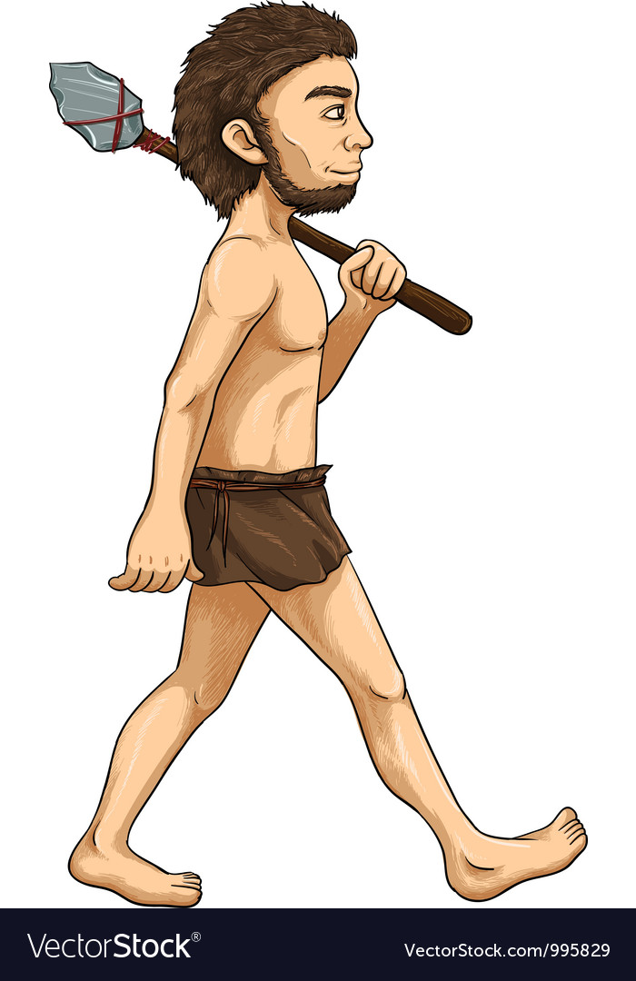 Cave man vector | Price: 1 Credit (USD $1)