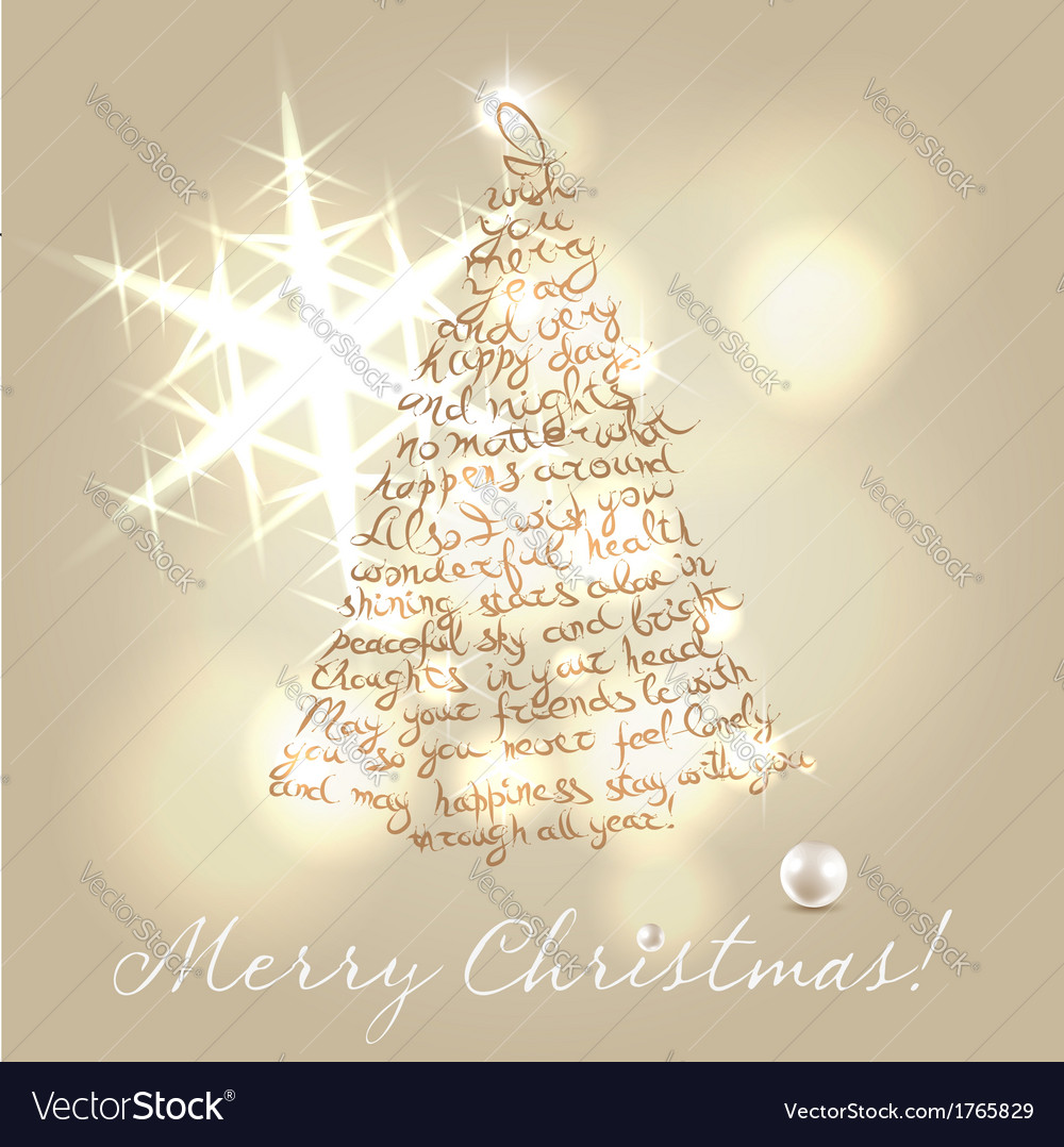 Christmas wishing post card vector | Price: 1 Credit (USD $1)