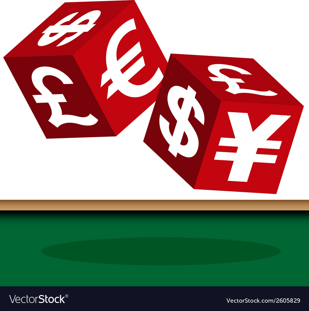 Currency dice vector | Price: 1 Credit (USD $1)