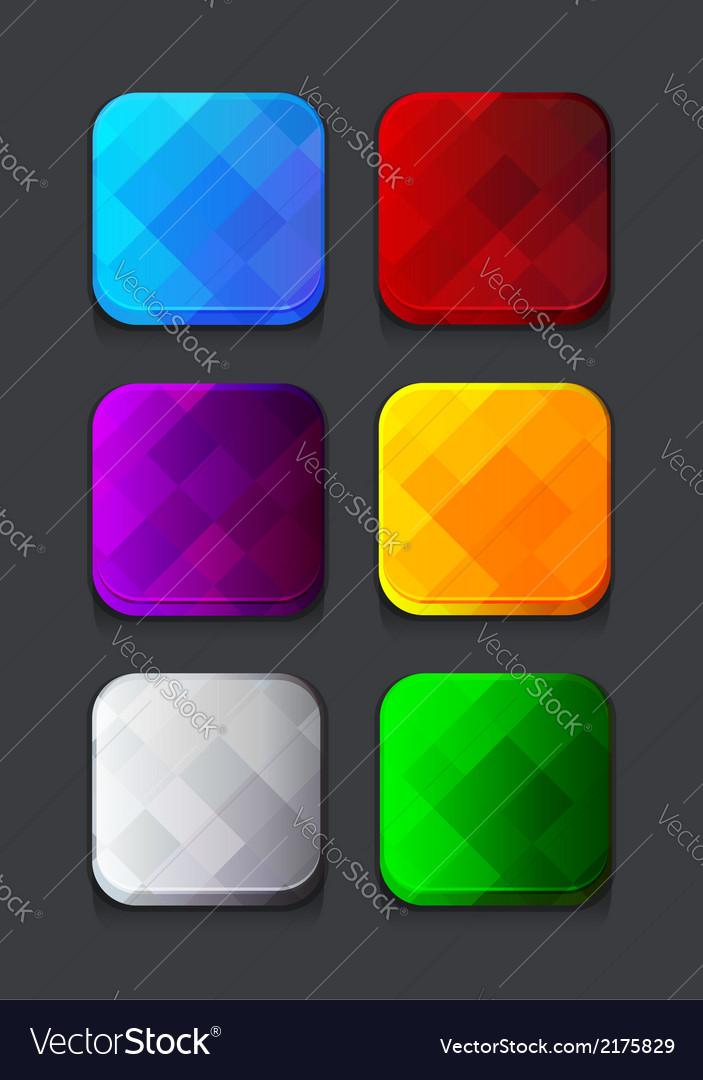 Empty web icons set vector | Price: 1 Credit (USD $1)