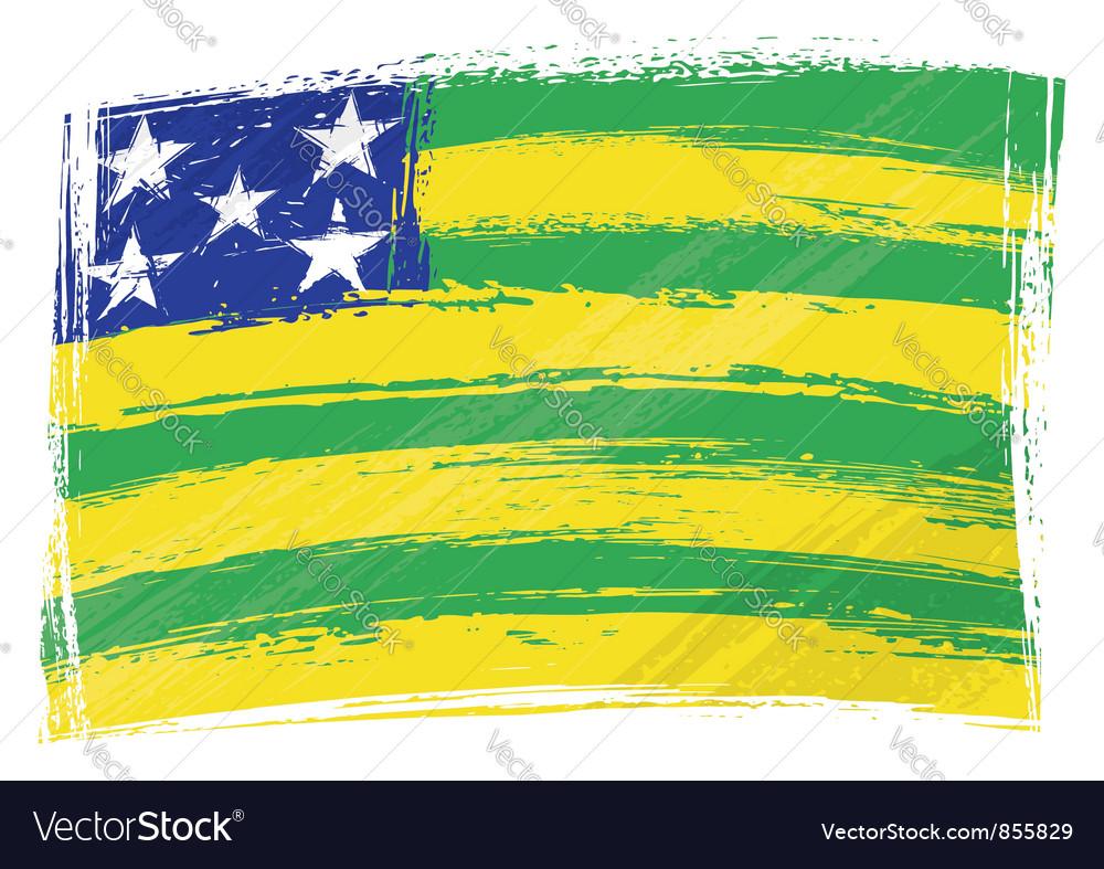 Grunge goias flag vector