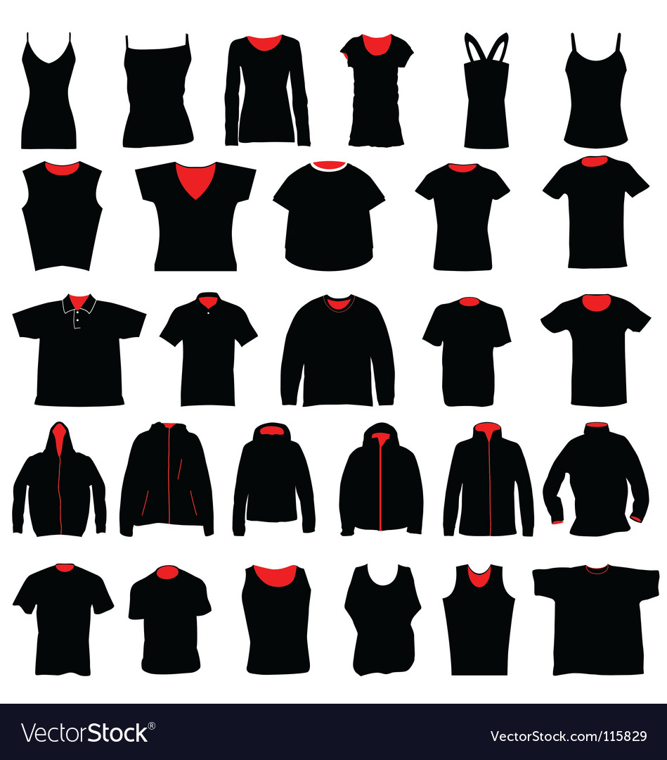Shirts collection vector | Price: 1 Credit (USD $1)