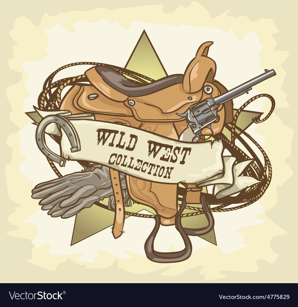 Wild west label vector   Price: 3 Credit (USD $3)