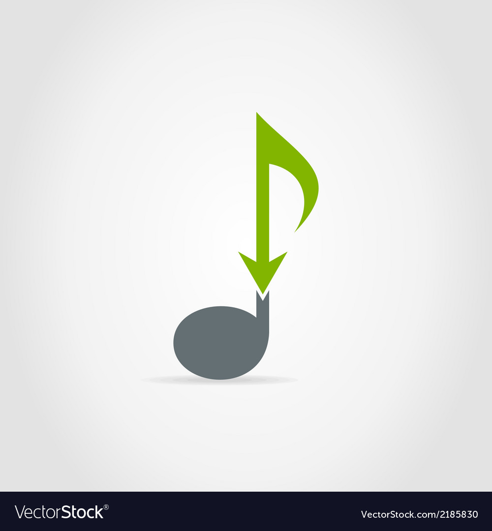 Arrow note vector | Price: 1 Credit (USD $1)