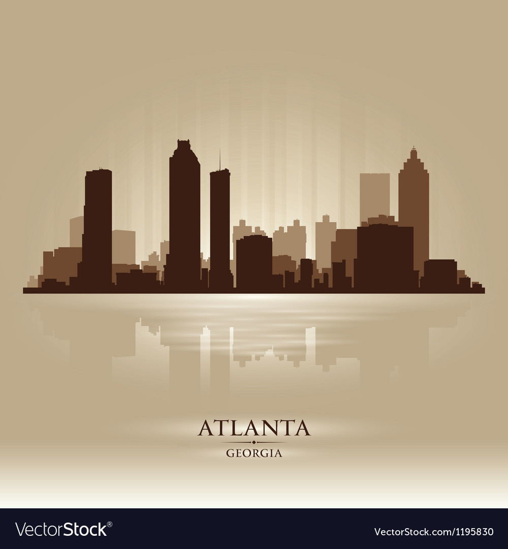 Atlanta georgia skyline city silhouette vector | Price: 1 Credit (USD $1)