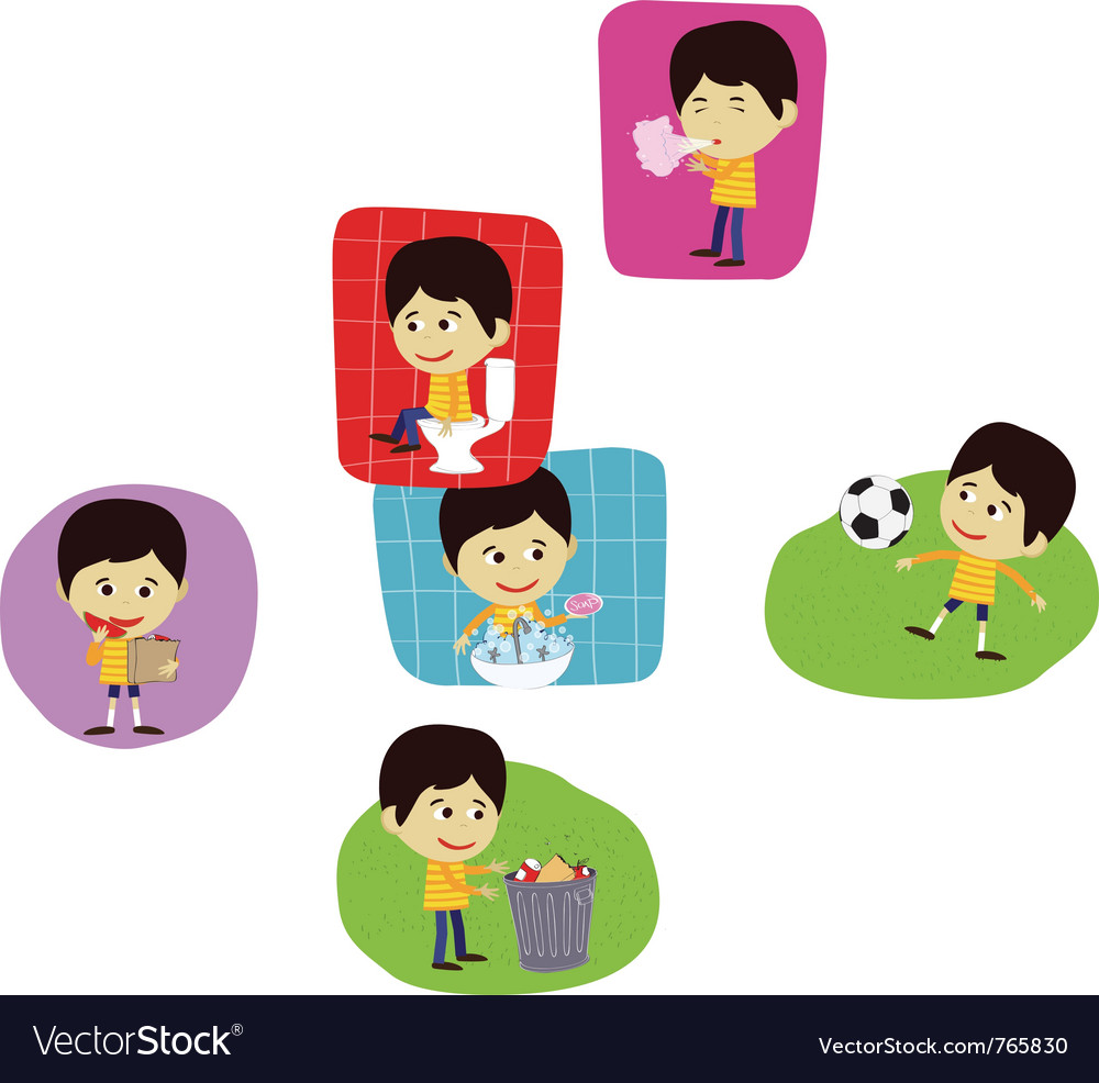 Boy playing football or soccer vector | Price: 1 Credit (USD $1)