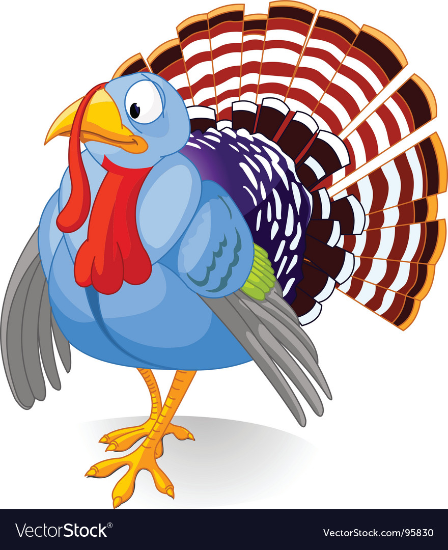 Cartoon turkey vector | Price: 3 Credit (USD $3)