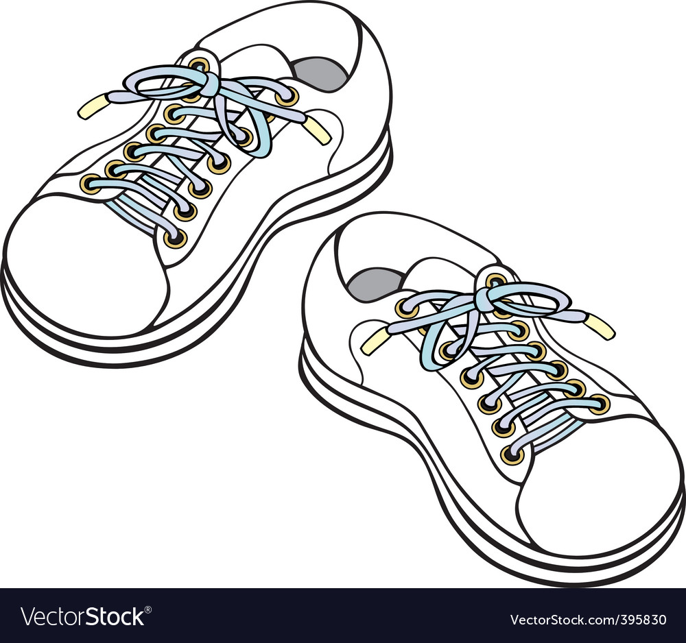 Children's sneakers vector | Price: 1 Credit (USD $1)