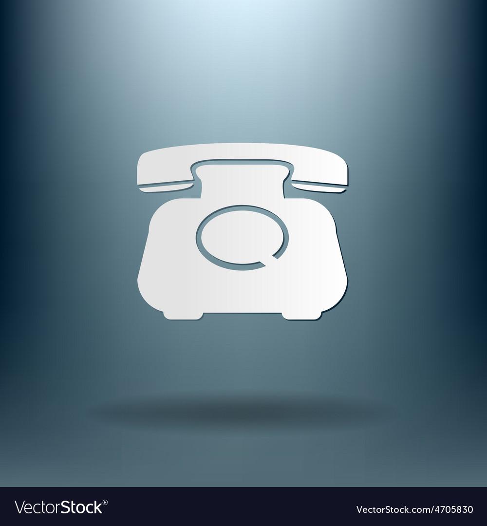 Classic retro phone vector   Price: 1 Credit (USD $1)